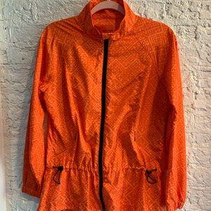 Exertek wind breaker orange jacket Sz M